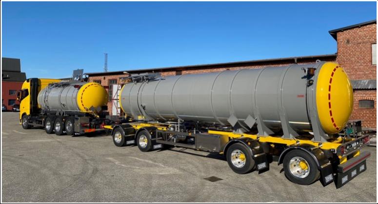 Ekonomiska och kvalitetsbyggda tankfordon för kemi- och vätsketransporter